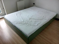 GONE! Double bed, mattress and slatted frame included, urgent
