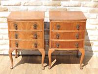 2 Vintage / Antique Bedside Cabinets (Delivery)