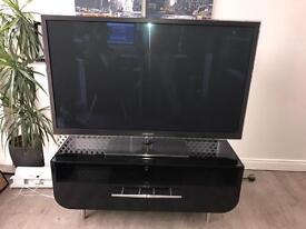 "51"" Plasma TV & Black high gloss tv stand"
