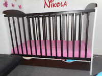 Baby cot with drawer/ baby cots + coconut foam mattress
