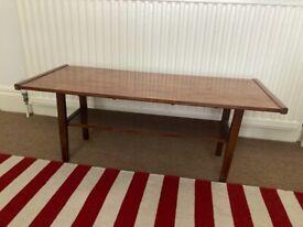 Vintage coffee table, wood, used