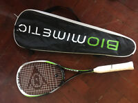 Almost brand new Dunlop Biometric Squash Raquet for sale, bargain!