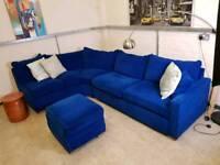 Easyliving Furniture Modular Corner sofa in an Electric blur velvet RRP £1000+