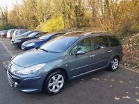 Peugeot 307sw Estate, 1.6 Petrol, Semi-Auto, Genuine Low Mileage