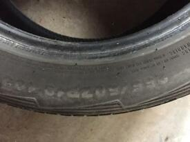2off 255/50ZR19 103 used tyres