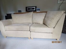 Two seater Suede Sofa