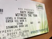 1 Standing Katy Perry tickets for tonight