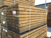Green & Brown Treated Softwood Sleepers