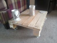 Shabby chic pallet coffee table.