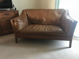 Halo hand crafted leather sofa rrp1300 @ john lewis