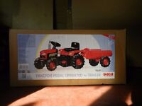 TRACTOR PEDAL OPERATED with TRAILER - Still new in box - £69