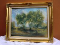 Countryside scene oil painting by local artist P P Harvey