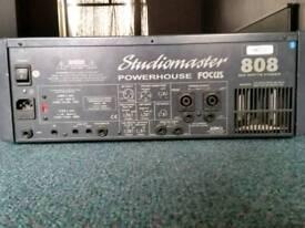Studio master 808 powered mixing desk