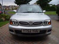 Nissan Micra, 2002, Silver, very low mileage.