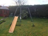 Swing slide combi