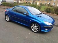 PEUGEOT 206cc 206 cc convertible 1 year mot private plate worth £500 may swap