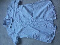 CALVIN KLEIN Men's Unisex Women's Short Sleeve shirt White Spotty SMALL 100% Cotton EXTREME SLIM FIT