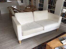Sofa white Ikea sofa with white Ikea Cover Karlstad ( ever need a wash)