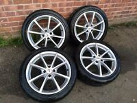 "17"" TSW aftermarket alloy wheels and tyres"