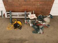 Bosch GCM 12SD Double Bevel compound mitre saw 240v with Bosch GTA 2600 Stand