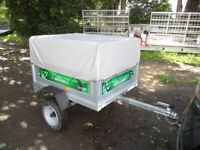 DAXARA 127 (TILTBED / DROPTAIL GOODS TRAILER WITH HIGH FRAME & COVER..........