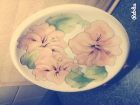 Moorcroft Hibiscus Plate.