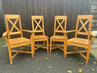 Oak Dining Chairs - Can Deliver