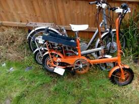 E bikes x3 for parts all motors work