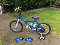 Kids bike bicycle with removable training wheels
