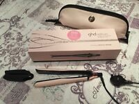 Brand New GHD Platinum Vintage Pink & Rose Gold Hair Straightener with Styler Bag
