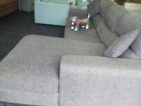 Sofology grey large corner sofa