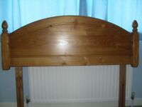 solid pine headboard - double size