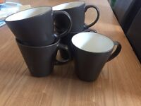 5 Ikea Brown Mugs excellent condition