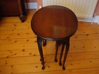 mahogany nest of tables in very good condition.