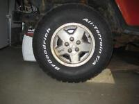 BF Goodrich All Terrain, Goodyear Vector, Uniroyal Laredo