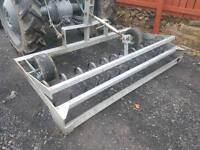 Tractor three point linkage horse arena cultivator with leveller