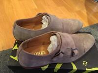 Jones Suede monk strap shoes