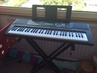 Yamaha EZ-220 full size keyboard with stand, rarely used