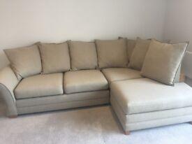 Pillow Back Corner Sofa - Good as new