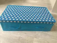 Kids under bed storage box (blue)