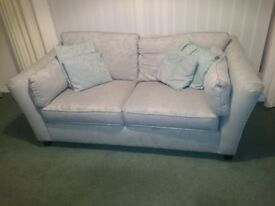 2 / 3 seater Marks and Spencer M & S Sofa Settee Duck Egg Collection Paignton