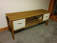 Wood TV Stand with Canvas Drawers