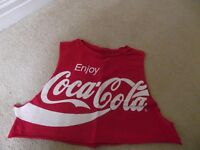 RED COCA COLA T-SHIRT - SIZE 14