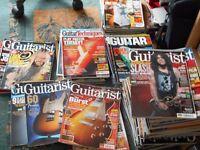 Job Lot of guitarist magazines.