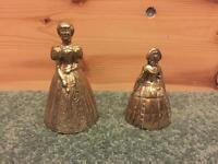 2 Brass lady bells