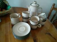 Denby 'Sahara' tea set, 6 cups & saucers