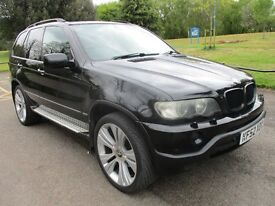 "2002 52 BMW X5 3.0 SPORT AUTO FULL MOT 5/18 HISTORY 22"" ALLOYS SAT NAV TV LEATHER CRUISE PX SWAPS"