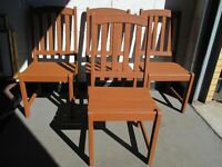 GARDEN CHAIRS SET OF 4 FOUR PAINTED WITH FREE DELIVERY
