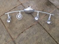 4 arm light fitting in silver colour