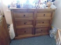 Corona chest of drawers and Wardrobe
